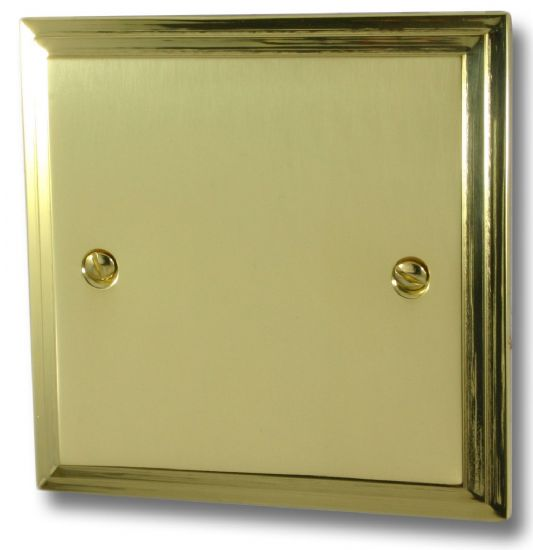 G&H Victorian Plate Polished Brass